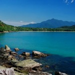 beautiful lagoon and beach coral sea views daintree rain forest